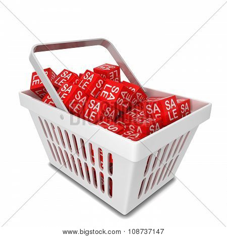 Shopping Basket With Sale Discount Boxes