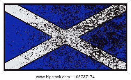 Scotland Flag Grunged