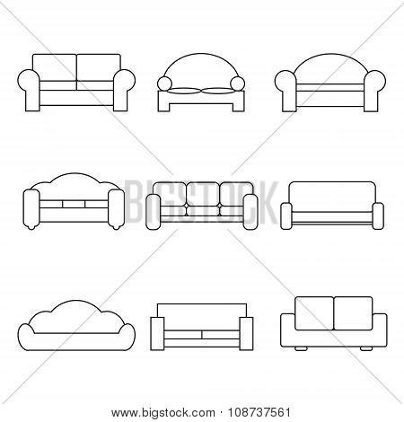 Sofa Icons Vector