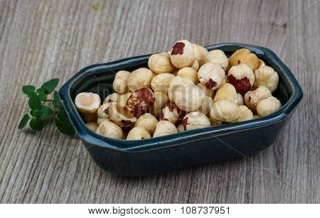 Hazelnuts In The Bowl