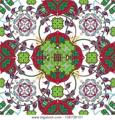 Italian traditional ornament, Mediterranean seamless pattern, tile, textile, tissue design, vector i