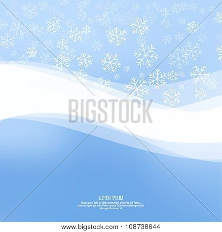 Gentle winter abstract background