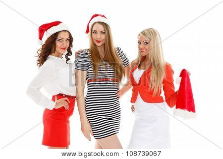 Happy Girlfriends. Christmas.