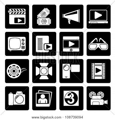 Black Movie and cinema icons