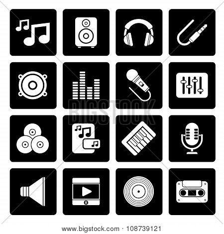 Black Music, sound and audio icons
