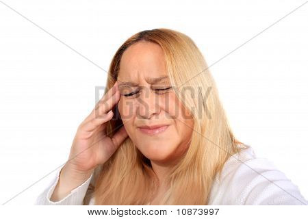 Woman With Tension Headache Pain