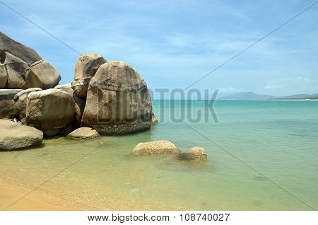Coast South China Sea In The Park World's End, China, Hainan, Sania