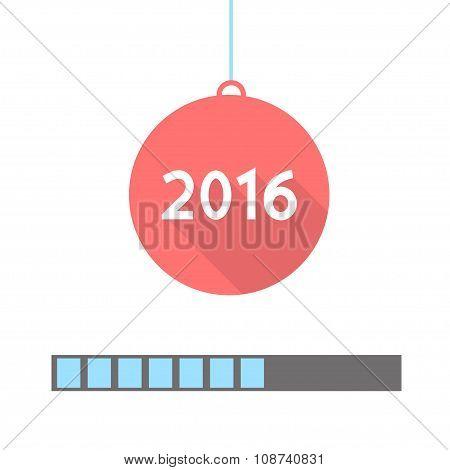 2016 Loading. Progress Bar Design. Vector Illustration.