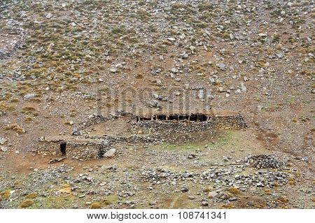 Shepherd shelter in Atlas Mountains, Morocco, Africa