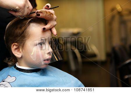 Thinking Kid At The Barbershop
