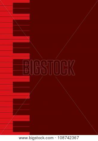 Red Piano Keys