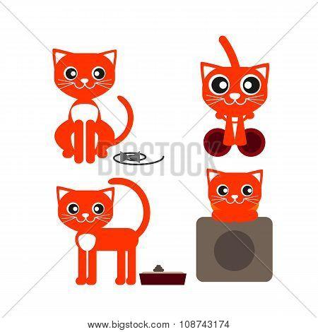 Red Cat Lying