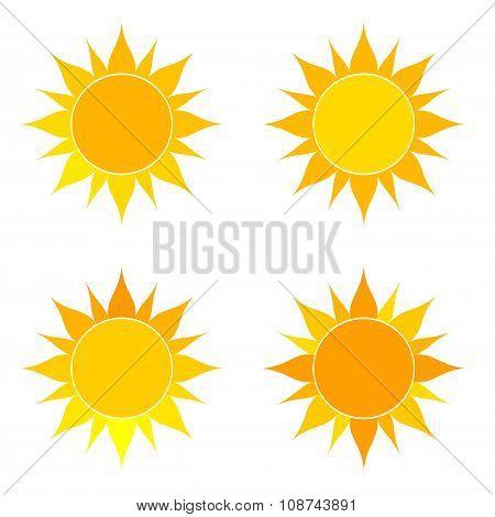 Suns Set Illustration