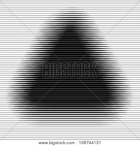 Abstract striped triangle backdrop