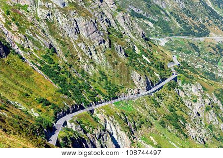 Road Turn In Mountains