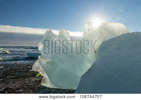 Jokulsarlon Glacier Black Beach
