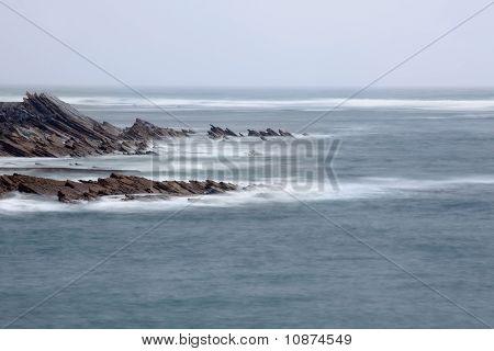Foam Waves On The Ocean