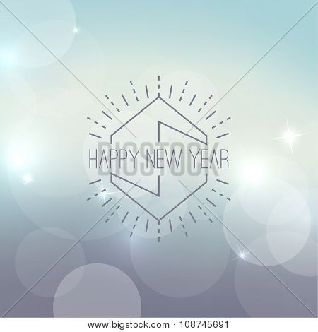 Abstract blurred vector background with sparkle stars