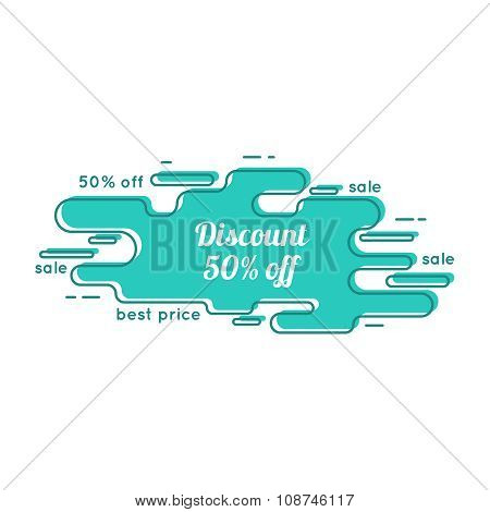 Abstract tag with discount.
