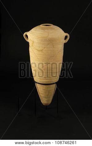 Amphora Isolated On Black Background