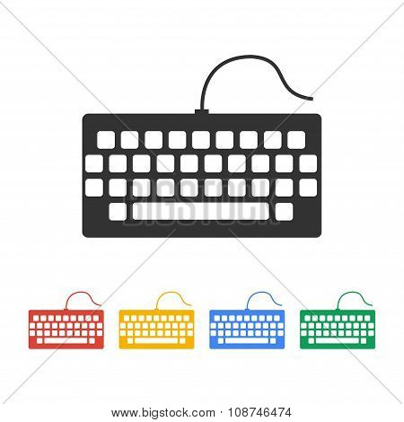 Keyboard Icon. Flat Design Style.