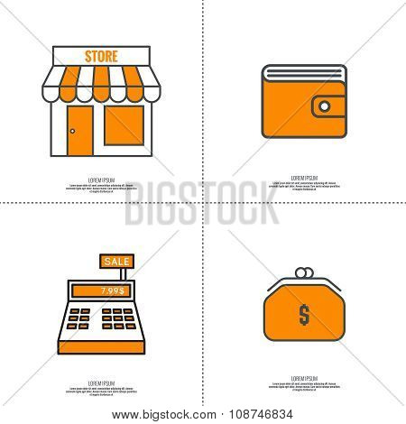Set of vector icons pictograms