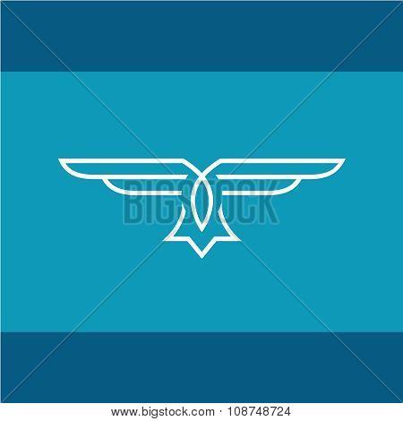 Eagle Vector Line Logo