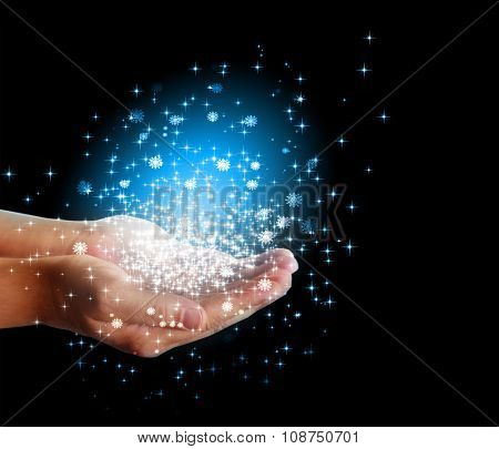 stars and magic in your hands