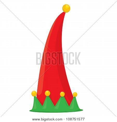 christmas elf hat. vector illustration