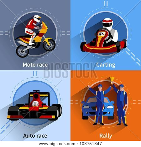 Racer Icons Set