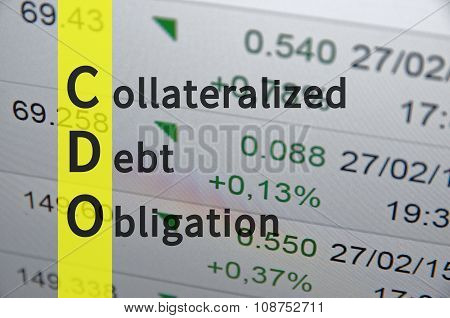 Collateralized debt obligation