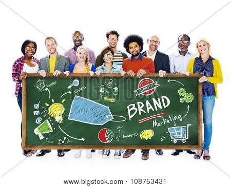 Diverse People Banner Marketing Brand Concept