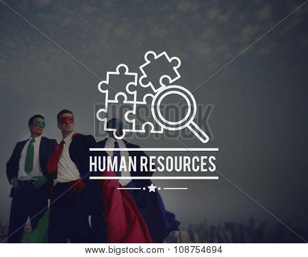 Human Resources Hiring Employment Contact Concept