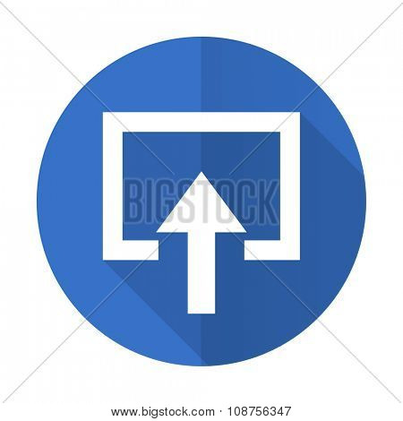 enter blue web flat design icon on white background