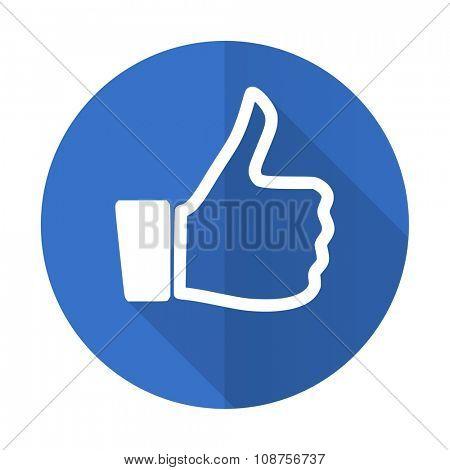 like blue web flat design icon on white background