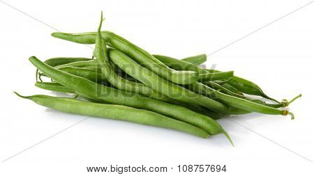 French bean isolated on white