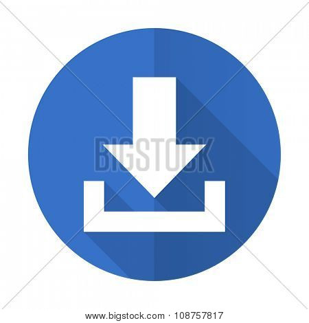 download blue web flat design icon on white background