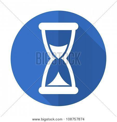 time blue web flat design icon on white background