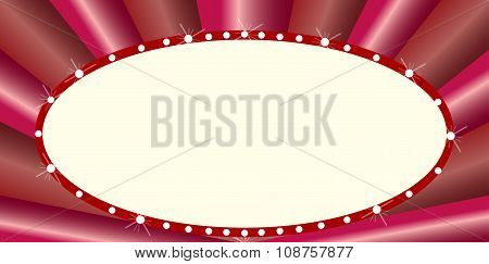 Oval Cinema Style Marquee