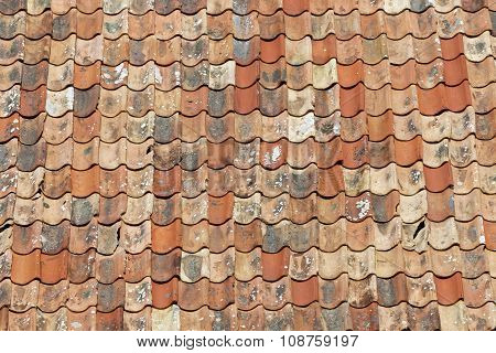 Roof Made Of Old Roofing Tiles