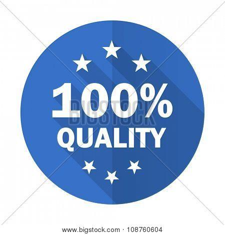 quality blue web flat design icon on white background