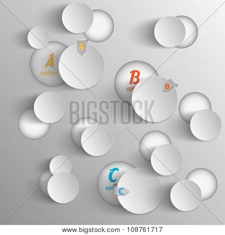 abstract chaotic circles data template for your presentation