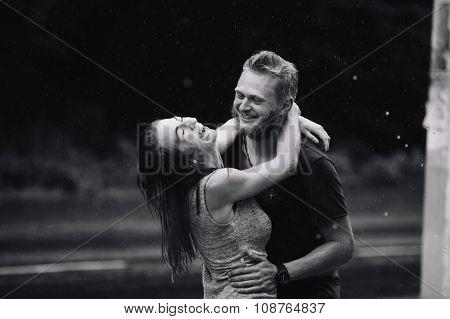 beautiful couple enjoying life