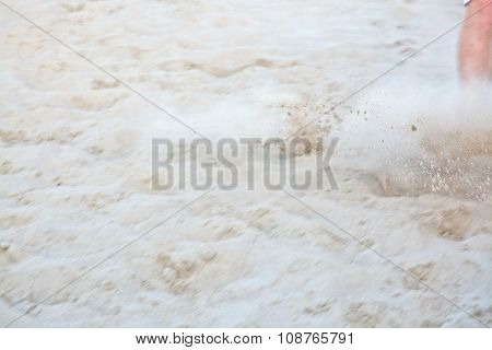 Beach soccer soft sand background