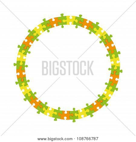 Jigsaw Puzzle Circle Frame wheel border banner