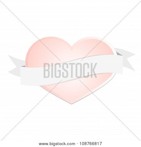 Valentine's Day Pink Heart Greeting Card Love