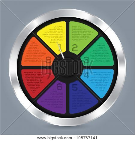 Abstract Infographic Design With Color Wheel