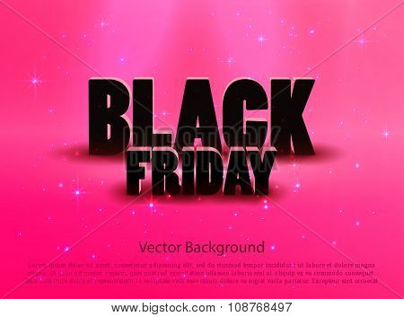 Black friday sale pink background