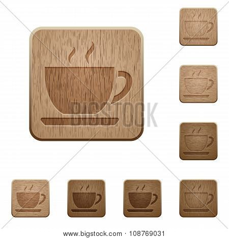 Coffee Wooden Buttons