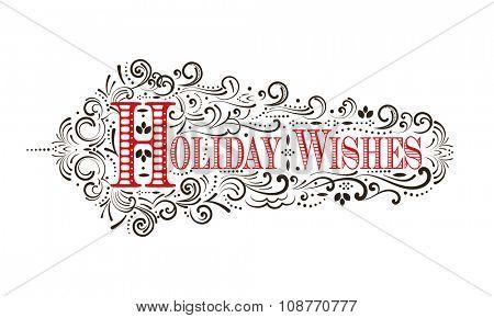 Holiday Wishes Flourish (separate elements)